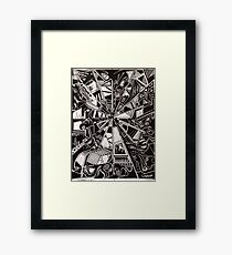 point perspective  Framed Print