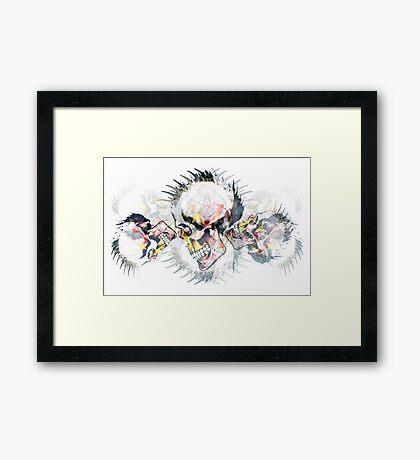 Punkz-skullz Framed Print