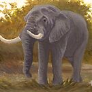 Old Bull - African Elephant by John Houle