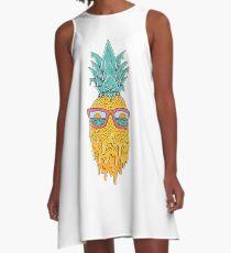 Ananas Sommer A-Linien Kleid