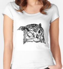 Robot Owl Women's Fitted Scoop T-Shirt