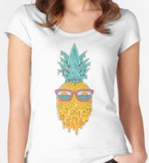 Pineapple Summer Women's Fitted Scoop T-Shirt