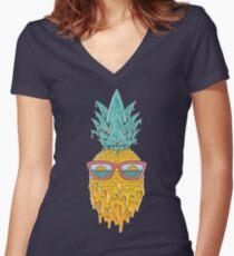 Pineapple Summer Women's Fitted V-Neck T-Shirt