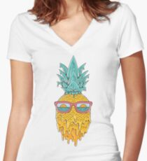 Pineapple Summer Women's Fitted V-Neck T-Shirt