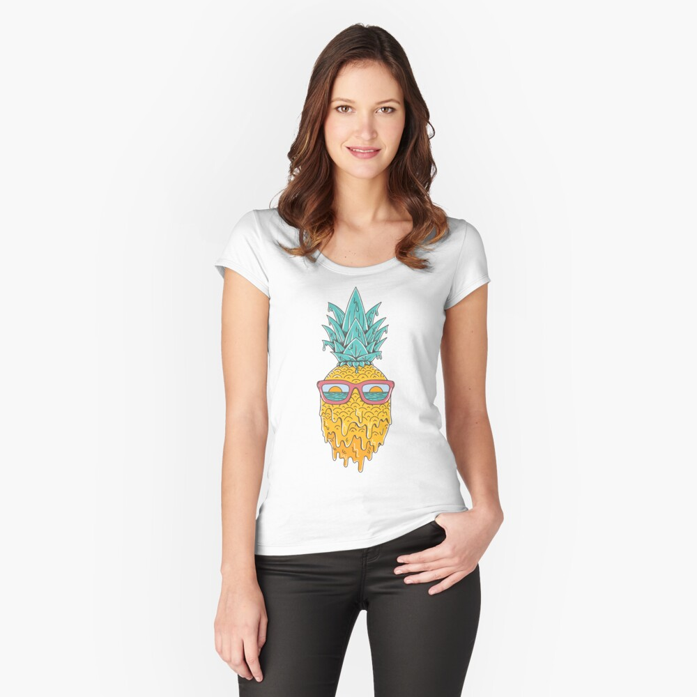 Pineapple Summer Fitted Scoop T-Shirt
