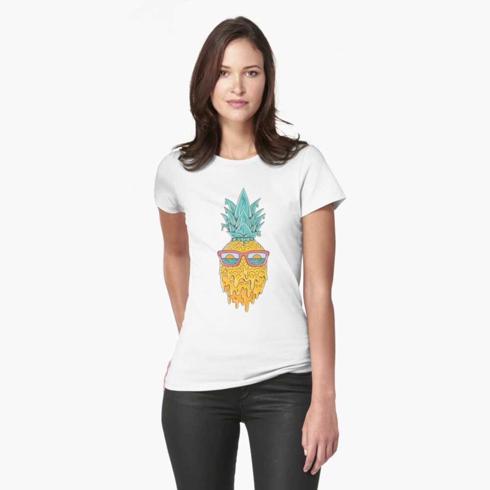 Pineapple Summer Fitted T-Shirt