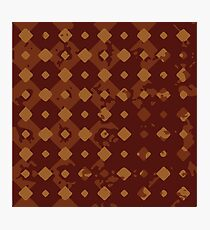 Grunge Tiles in Rust Photographic Print