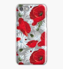 Red Poppies Print iPhone Case/Skin