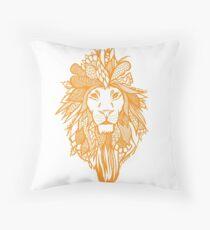 Orange Zion Throw Pillow
