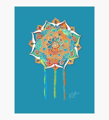 Celestial Blue Mandala Photographic Print