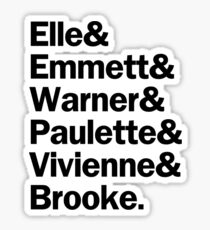 Legally Blonde Characters | Black Sticker