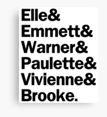 Legally Blonde Characters | Black Canvas Print