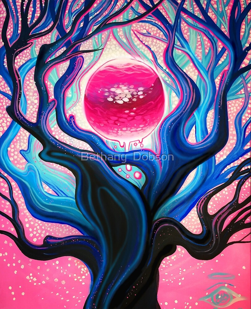 Magic Tree - Acrylic Painting by cloudsover31