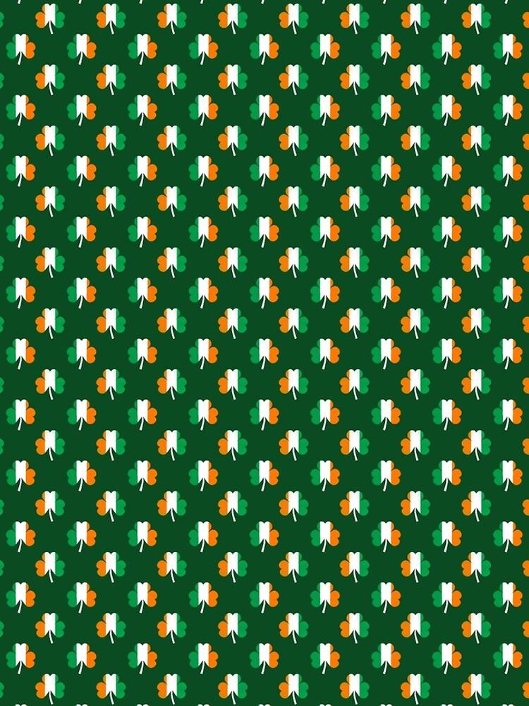 Irish Flag Green White Orange on Green St. Patricks Day Ireland by podartist
