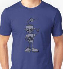 Peace Robot - Black Lines Unisex T-Shirt