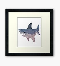 mosaic shark Framed Print