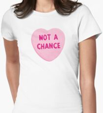 Not A Chance Valentine's Day Heart Womens Fitted T-Shirt
