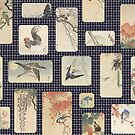 Japanese birds and flowers by Morag Anderson