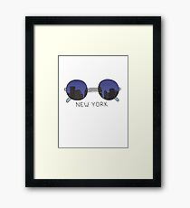 New York Sunglasses Framed Print