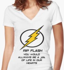 RIP Flash Women's Fitted V-Neck T-Shirt
