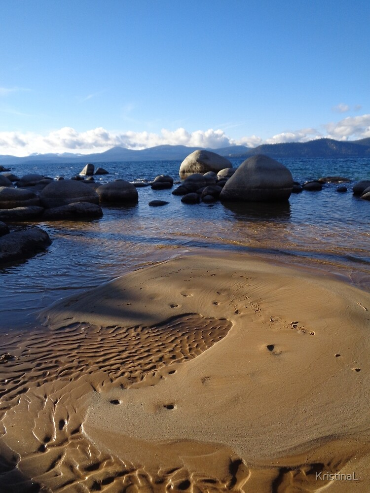 Swirling Sand Patterns at Sand Harbor by KristinaL