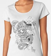 Zombie/Snake mutilation Women's Premium T-Shirt