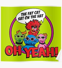 THE FAT CAT SAT ON THE HAT Poster