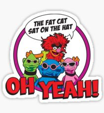 THE FAT CAT SAT ON THE HAT Sticker