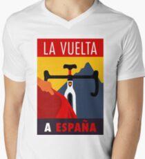 LA VUELTA: Vintage ESPANA Bicycle Racing Advertising Print Men's V-Neck T-Shirt