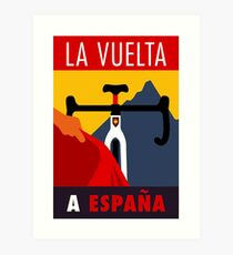 LA VUELTA: Vintage ESPANA Bicycle Racing Advertising Print Art Print