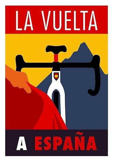 LA VUELTA: Vintage ESPANA Fahrrad Racing Werbung Print von posterbobs
