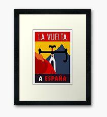 LA VUELTA: Vintage ESPANA Bicycle Racing Advertising Print Framed Print