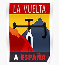 LA VUELTA: Vintage ESPANA Bicycle Racing Advertising Print Poster