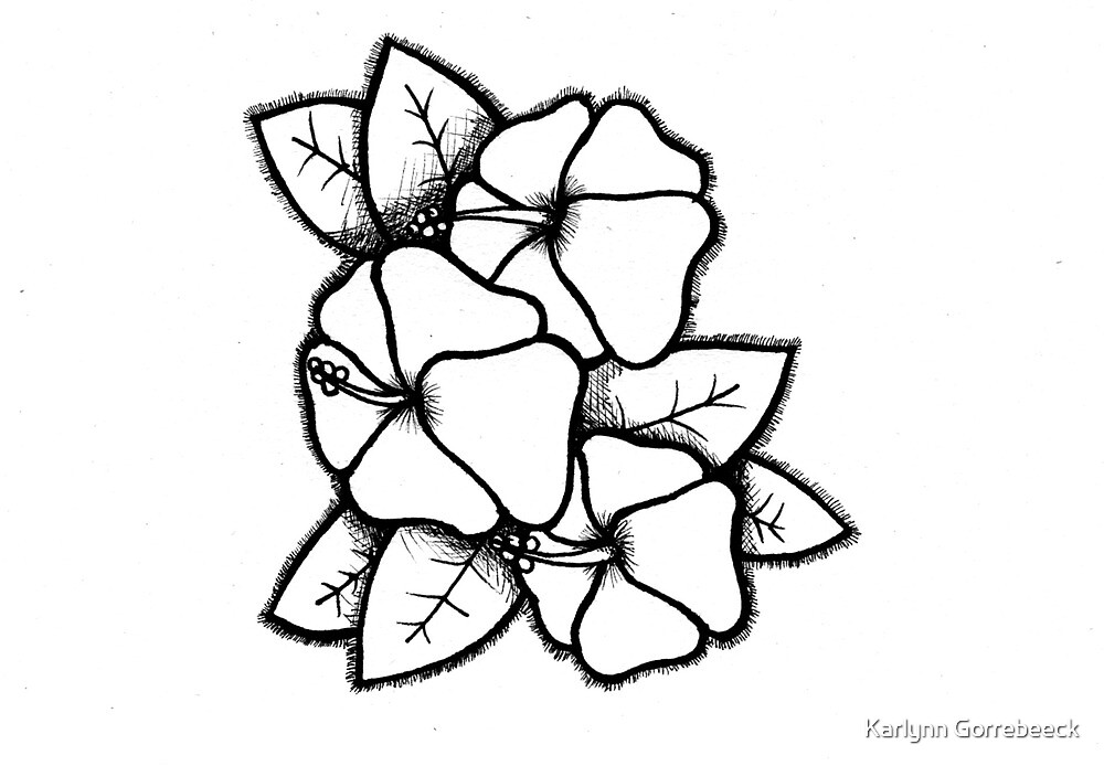 Cute Hibiscus by Karlynn Gorrebeeck