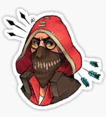 Angry sniper Sticker