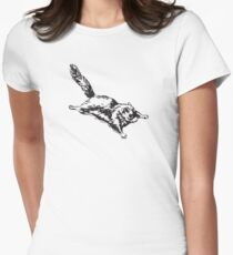 Flying Sugar Glider Women's Fitted T-Shirt