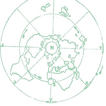 Azimuthal Equidistant Map Zetetic Astronomy Flat Earth Map,  by Archpress