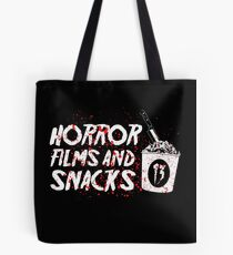 HORROR FILMS AND SNACKS Tote Bag