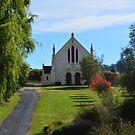 Church on the hill by Judy Woodman