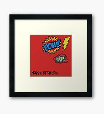 Happy Birthday - Super Badges Framed Print