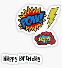 Happy Birthday - Super Badges Sticker