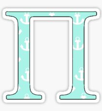 Pi Teal Anchor Sticker