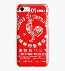 Spicy Rooster in white iPhone Case/Skin