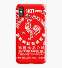 Spicy Rooster in white iPhone Case