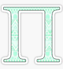 Pi Tribal Teal Sticker