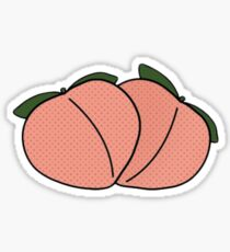 peach peachy peaches Sticker