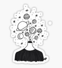 planets head explosion Sticker