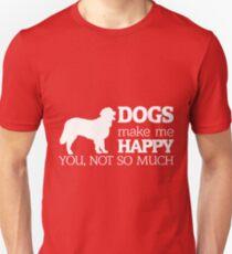 Dogs Make Me Happy Shirt Unisex T-Shirt