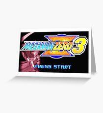 Mega Man Zero 3 Title Screen Greeting Card