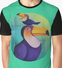 Tropical Toucan Graphic T-Shirt